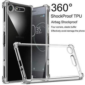 For Sony Xperia XZ3 XZ2 XZ1 XA2 Shockproof Bumper Clear TPU Silicone Case Cover