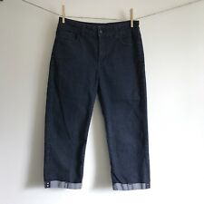 Not Your Daughters Jeans Fiona Roll Cuffed Crop Womens Size 8 Rhinestone Pants