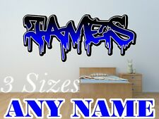 Personalised Graffiti Name Brick #2 Wall Sticker Art Removable LSG11