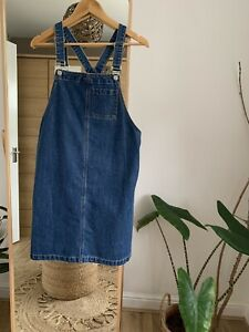 Women's Denim Pinafore Dress (Suspender Skirt) Size 12