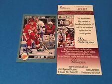 Vladimir Konstantinov Red Wings 1992-93 Score Card Signed Auto JSA Certified COA