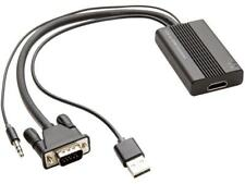 SYBA SD-ADA31040 VGA to HDMI Converter with Audio Support 1920 x 1080 Resolution