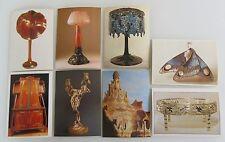 Kunst Art Postkarten Lot 8 x diverse Kunstgegenstände Motive u.a. Lampen uvm.