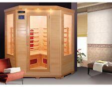 Sauna infrarossi 4 persone PR-400 BC CROMOTERAPIA illuminazione 2000 W legno
