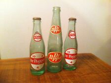 3 Old Dr Pepper Soda Bottle ,two 10-2-4,6 1/2 Oz.and One 10 Oz.bottle