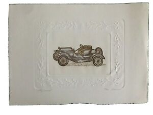 Stutz Bearcat - Olson - signed & numbered hand-colored etching