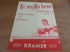 Spartito TE VOGLIO BENE testo e musica di Renato Rascel Kramer 1954