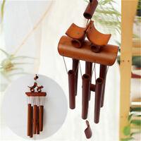 """24"""" Bamboo Wood Wind Chimes Outdoor Indoor Bells Garden Decoration Ringings"""
