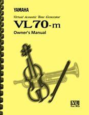 Yamaha VL-70m Tone Generator OWNER'S MANUAL