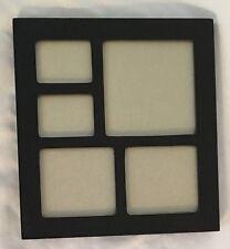 "Black Multi 7.5X8""  FRAME Holds Five Photos"