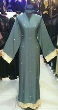 Mujer Frente Abierto Abaya.dress. Saudi Abaya Japonés Neda / Linen.sizes