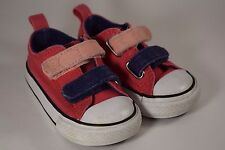 Converse Infant Baby Shoes Pink Purple Size 4 Sneakers Adjustable Straps