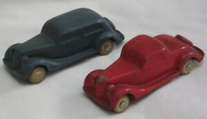1930's Barr Rubber Co Ford Sedan & Coupe Toy Cars