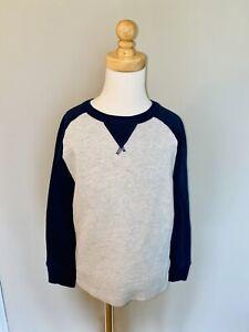 CREWCUTS J Crew Boys  Pullover Grey Navy Sweatshirt Crewneck Size 6/7