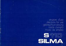 SILMA S 110-istruzioni d'uso b1828