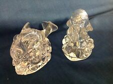 Lenox Crystal Salt & Pepper shakers, Dolphins