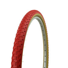 """NEW! 24"""" x 1.75"""" BMX bike RED GUM WALL Comp 3 design bicycle tire 65PSI"""