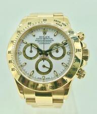 Rolex Daytona 116528 18kYG chronograph automatic men's watch on bracelet