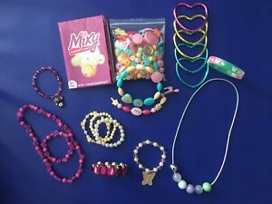 Girls Jewellery Items & 'Mixy' Fashion Snap Bead Making Set - Exc Cond