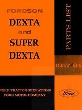Fordson Dexta - Super Parts List Manual Ford 57-64