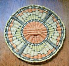 "New ListingFine 9.5"" Antique Hopi Indian 3rd Mesa Wicker Basket Plaque Native American"