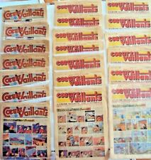 lot de vingt bandes dessinées cœur vaillant