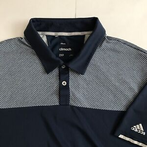 Adidas Climachill Polo Blue/grey 2XL stripes