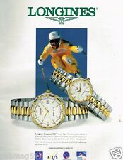 Publicité advertising 1994 Les Montres Longines Conquest VHP
