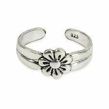 Flower Adjustable Toe ring 925 Solid Sterling Silver Daisy