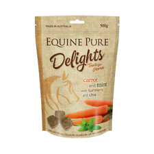Equine Pure Delights Carrot MINT Turmeric and Chia 500g Horse Treats