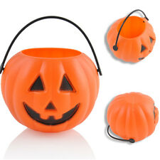 Candy Holder Smile Plastic Pumpkin Bucket Basket Halloween Party Decorations