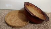 "The Pampered Chef Family Heritage Stoneware Round Cake Pan 11"" & 14"" Bowel"
