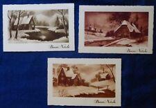 LOTTO  3 CARTOLINE -  paesaggi NATALE - ANNI '50 - INTONSE