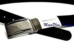 Authentic Giorgio Armani Calf Leather Belt Black (GA5860) 26-41 inch