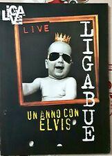 Ligabue Un Anno Con Elvis Liga Live 1996 Dvd Editoriale Cartonato