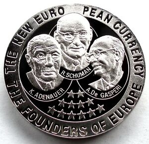 ZAMBIA 1000 KWACHA 1999 BU Proof KM#194 The Founders of European Union R5.1