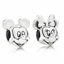 Brand New Silver Pandora Disney Mickey and Minnie Mouse Pair Charms S925 ALE