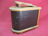 Antique Primitive Shoe Shine Cobbler Wood Box