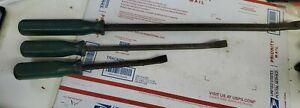 SK Tools Heavy Duty Bent Tip Pry Bar Set 3 Pc  6612 6618 6607 (e1)