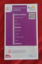 Fahrplan SNCF TER Aquitaine Mt de Marsan - Bdaux Linie 40 - nicht Deutsche Bahn