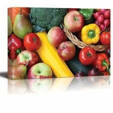 "Canvas Prints - Closeup of Various Colorful Fruits and Vegetables - 16"" x 24"""