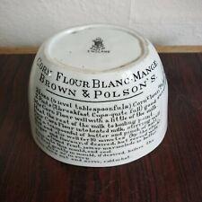 More details for authentic antique brown and polson's corn flour blanc-mange mould.