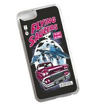 Retro B Movie Poster Style alien UFO Invasion Clear Case Cover for iPhone 6 & 6s