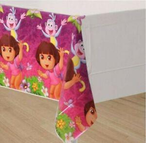 NEW (1) Dora the Explorer Flower Plastic Table Cover 54x96 - FREE SHIP!!