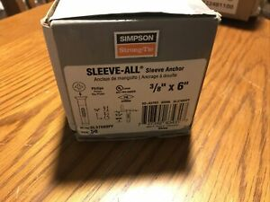 """Simpson Strong-Tie SL37600PF Sleeve-All Anchor 3/8"""" x 6"""" Phillips  Box Of 50"""