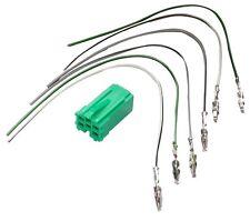 Conector enchufe verde precableado mini ISO 6PIN para autoradio
