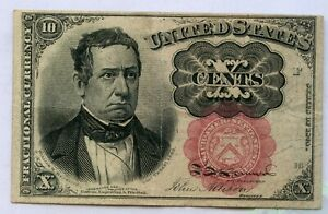 1874 United States 10 Cents Fractional Currency Note - RC538