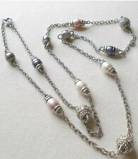 """Sterling Silver Judith Ripka Fresh Water Pearl 36"""" Necklace   365.599"""
