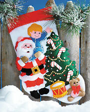 Felt Embroidery Kit ~ Design Works Reach For The Star Christmas Stocking #DW5057