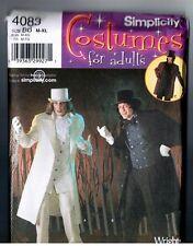 Simplicity 4083 Undertaker Jekyl Hyde Scrooge Designer Costume PATTERN M - XL